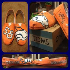 Denver Bronco Toms! OMG! I need these for the games!