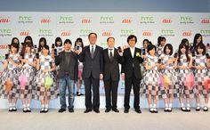 「HTC J ISW13HT」製品発表会のフォトセッションより。