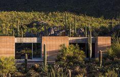Tucson Mountain Retreat in Sonoran Desert, Arizona Tucson, Arizona, Landscape Architecture, Landscape Design, Sustainable Architecture, Rammed Earth Homes, Art Nouveau, Desert Homes, Stay Cool