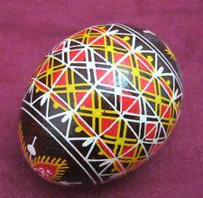Easter Real Egg Pysanky Hand painted & Blow. Ukrainian Art Folk