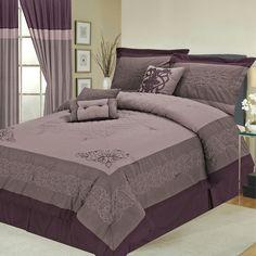Cute purple bed set!!