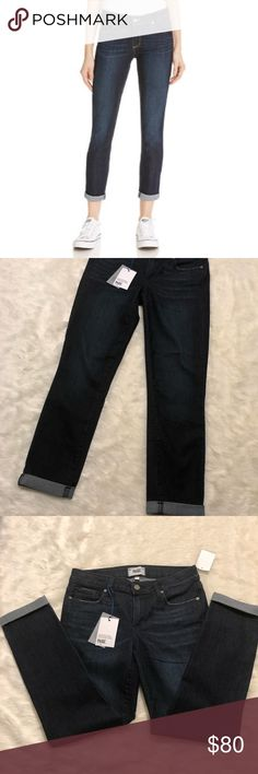 "NWT Paige Kylie Crop Roll Up Duncan SZ 27 NWT - prefect condition.   Super cute jeans, dark wash and perfect to wear with boots or cute flats! Inseam 26"" . PAIGE Jeans Ankle & Cropped"
