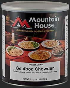 Mountain House 10 Can Seafood Chowder 10  1 cup servings ** More info could be found at the image url.-It is an affiliate link to Amazon. #CampKitchenEquipment