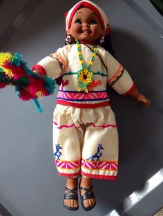 Vintage Doll from Mexico by DollsAroundTheWorld on Etsy
