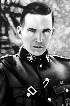 Ralph Fiennes as Amon Göth in Schindler's list movie oil painting Painting Schindler's List Movie, Amon Goeth, Oil Painting On Canvas, Canvas Art, German Soldiers Ww2, Ralph Fiennes, Photorealism, Famous People, Original Paintings