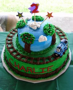Cute!  May try to make Keegans BDay cake similar to this!