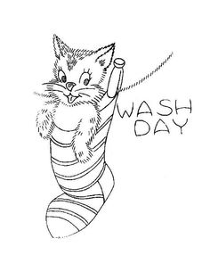 Wash day - Vintage Embroidery Pattern