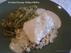 Dessert Now, Dinner Later!: Crockpot Creamy Italian Chicken...with homemade Italian seasoning recipe.