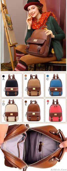 Retro Elegant College Backpack for big sale ! #retro #elegant #college #backpack #bag