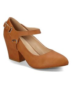 This Cognac Beleza Pump by Chase & Chloe is perfect! #zulilyfinds