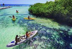Aruba Kayak Adventure - Spanish lagoon south coast