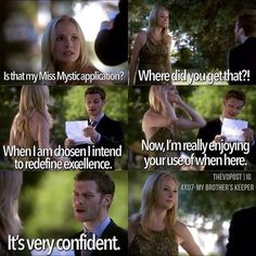 The Vampire Diaries- This is one of my all time favorite Klaroline moments<3