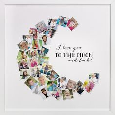 Love You To The Moon & Back! by Chasity Smith at minted.com