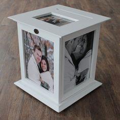 Caja de tarjeta de boda blanco con ninguna personalización