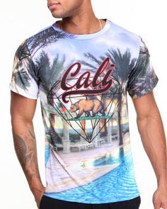 Cali Script All-Over Print Sublimation Tee by Buyers Picks