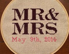 Cross Stitch Wedding Date                                                       …