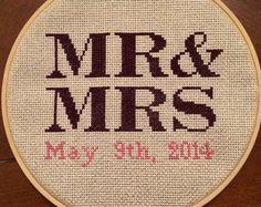 Cross Stitch Wedding Date                                                                                                                                                                                 More