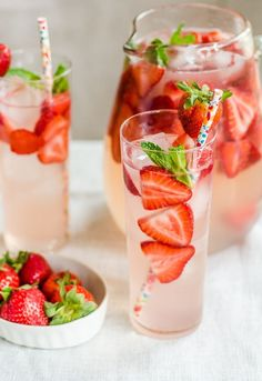 15 Sparkling Drinks for Spring Entertaining — Recipes from - Warmer days mean the start of spring entertaining season: lazy days outdoors with friends, cozy dinner parties with fresh produce, and Memorial Day or graduation parties. As we shed our bulky clothes for something lighter, so too should your drinks! Put down the heavy cocktail or mocktail, and keep things fun and bubbly with things like a refreshing, sparkling cucumber cooler or a non-alcoholic strawberry and basil soda.