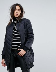 #ASOS - #Y.A.S Y.A.S Kathrine Down Padded Coat - Black - AdoreWe.com