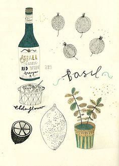 Some little gems in the kitchen. Katt Frank illustration art and design