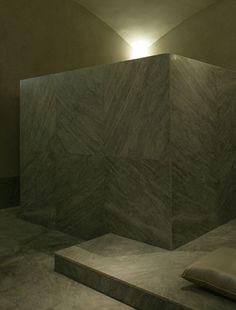 Studio KO - Villa D - Marrakech - ©Dan Glaser > Traditionnal private Hammam in Carrara marble
