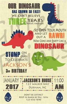 34 best 3rd dinosaur birthday images in 2018