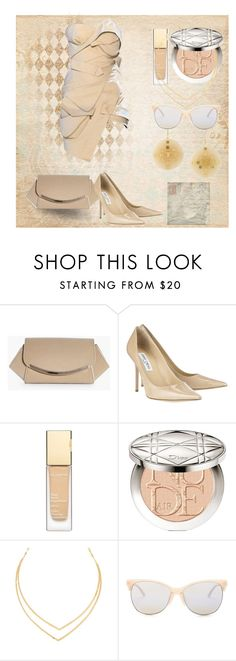 """""""monochromatic contest 2"""" by art-gives-me-life ❤ liked on Polyvore featuring Alexandre Vauthier, Boohoo, Jimmy Choo, Clarins, Christian Dior, Lana, Smith Optics, Chanel, contestentry and livinginafairytale"""