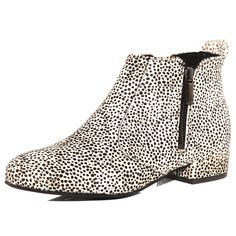 Dorothy Perkins Dalmatian Print Leather Ankle Boot
