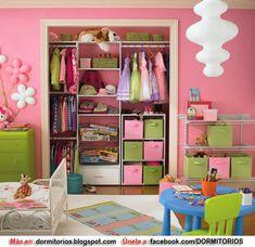 CLOSET PARA NIÑOS y NIÑAS : Dormitorios: Fotos de dormitorios Imágenes de habitaciones y recámaras, Diseño y Decoración