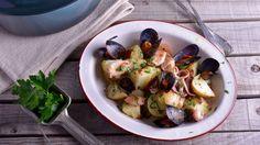 Ensalada de patatas con mejillones y chipirones - Nicola Poltronieri - Receta - Canal Cocina
