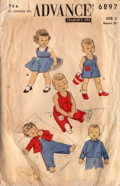 1950s Advance 6897 Vintage Sewing Pattern by midvalecottage