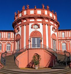 Biebrich Palace in the city of Wiesbaden, Hesse, Germany.