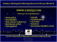 Vapor Joes - Daily Vaping Deals: SUMMERS END IN THE HOLY LAND: YAELIQ 100ML FOR $11...