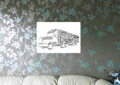 Truck,  Personalised A4 Word Art Print, FREE UK P&P. - pinned by pin4etsy.com