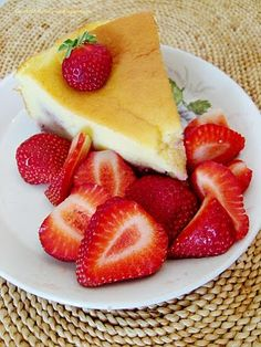 Torta ricotta con fragole