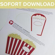 Kino-Abend  Für die Movie-Night ist das die perfekte Einladung:   Die Popcorn-Tüte bringt die richtige Vorfreude auf den Kino-Film! Da   werden die kleinen Gäste schon richtig auf das Motto eingestimmt!  Weitere Ideen für die nächste Geburtstagsparty findest Du auf blog.balloonas.com    #party #motto #balloonas #movienight #kino #einladung #geburtstag #geburtstagsparty #teens #teenager   #film #popcorn #invitation #funk #download #direct #diy