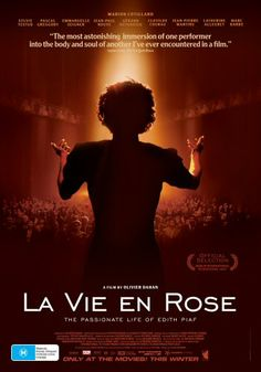 Although it's entirely in French with subtitles, this movie is absolutely stunning. Can't say how disappointed I was when Marion didn't get an Oscar for her remarkable role as Edith.