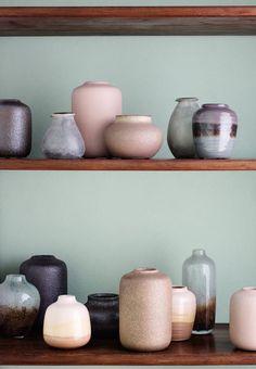 Broste Copenhagen ceramic vases in a beautiful colour combination.