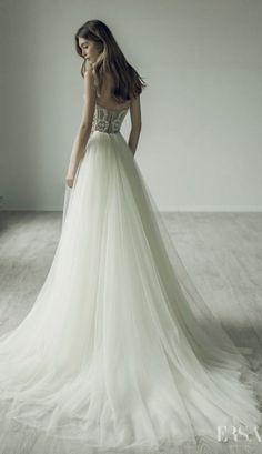 Featured Dress: Ersa Atelier; Wedding dress idea.  #bride