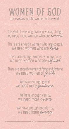 Women of God <3...I will try!