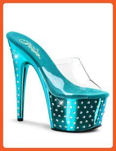 Turquoise Chrome Rhinestone Platform Sandal - 11 - Sandals for women (*Amazon Partner-Link)