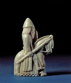 Credit: ©The Trustees of the British Museum. Woden's famous horse, Sleipnir, has eight legs. There are eight hidden under the cloth of this Knight from the Lewis Chessmen from Uig, Lewis, Scotland and carved from Walrus ivory in the 12th century.