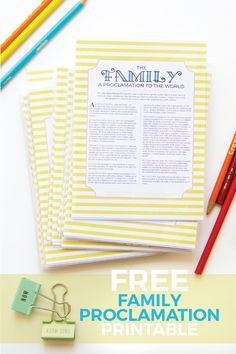 Corina's Corner - Family Proclamation or a Proclamation to the World, free download printable, LDS