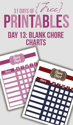 free blank chore charts templates family blank weekly chart chore list pinterest chore. Black Bedroom Furniture Sets. Home Design Ideas