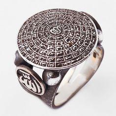 Esma-ül Hüsna, Allah ve Muhammed yazılı, gümüş erkek yüzüğü