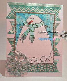 Happy Monday everyone! Time for another Atlantic Hearts Sketch Challenge! And here's my card… It's not the best I've ever made but… Stamps: Digistamps4joy Snowman-Scar…