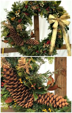 Beautiful Christmas wreaths made with holly http://thegardendiaries.wordpress.com/2014/12/19/a-tapestry-of-holly-mclean-nursery/