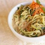 Spicy Sunbutter Noodles – Raw, vegan, gluten free, healthy
