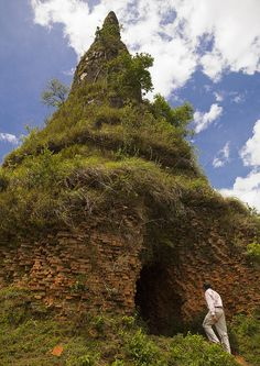 Old Stupa Coverd By Grass, Phonsavan, Laos