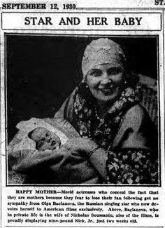 Olga Baclanova with son Nicholas Jr.